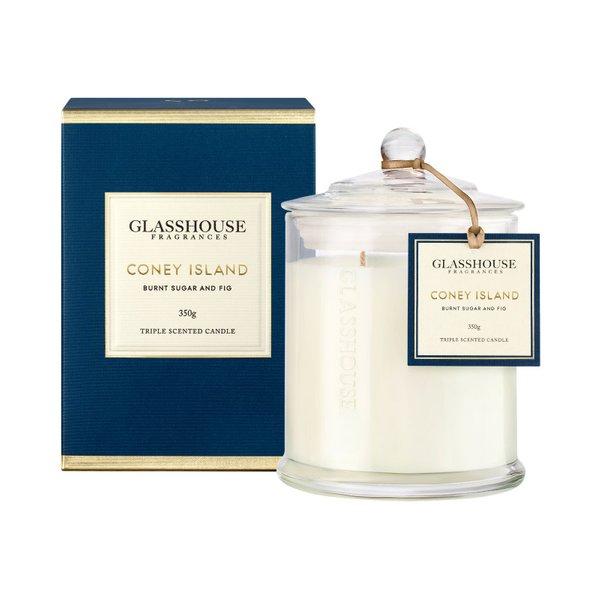 Glasshouse Fragrances Coney Island Burnt Sugar & Fig Candle
