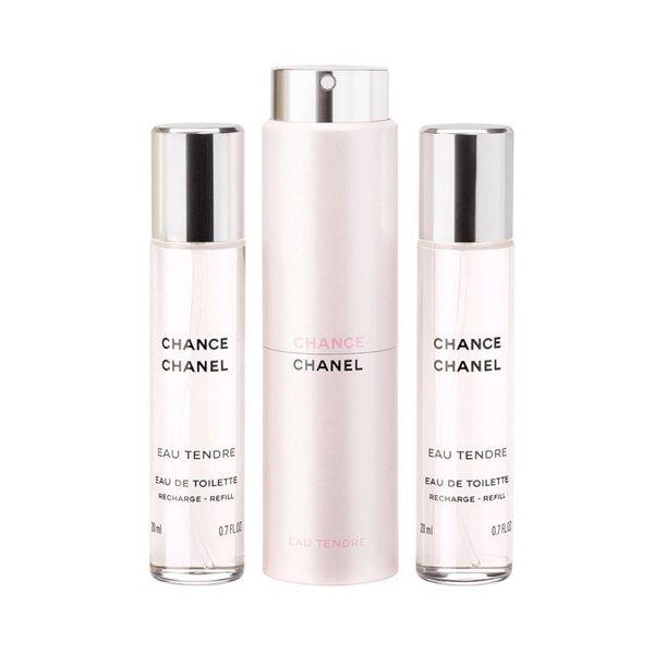 Chanel Chance Eau Tendre Eau de Toilette Twist & Spray - 3 x 20ml (Unboxed)