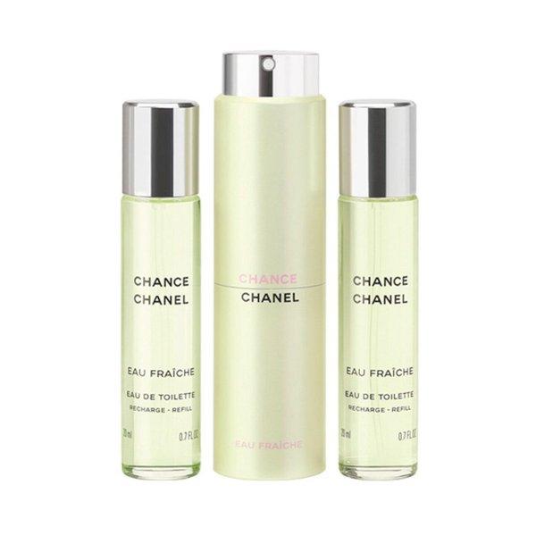Chanel Chance Eau Fraiche Eau De Toilette Twist and Spray - 3 x 20ml (Unboxed)