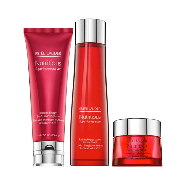 Estee Lauder Nutritious Super-Pomegranate Overnight Radiance Collection Set