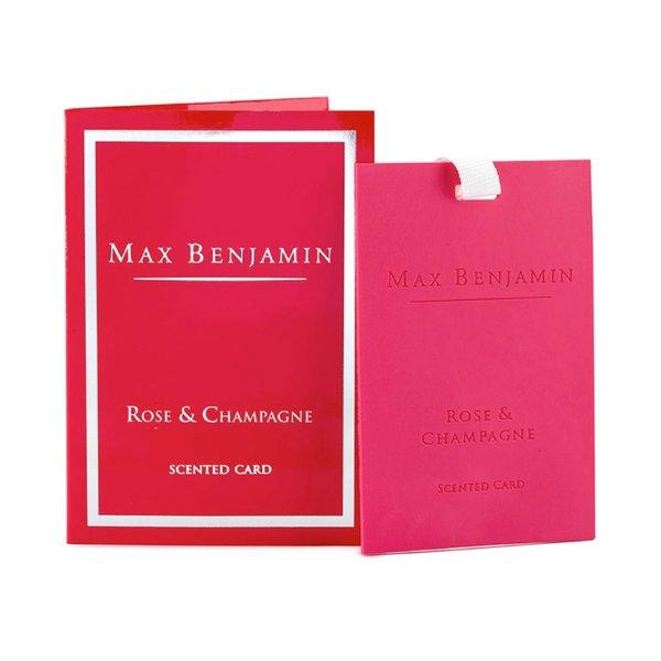 Max Benjamin Scented Card - Rose & Champagne