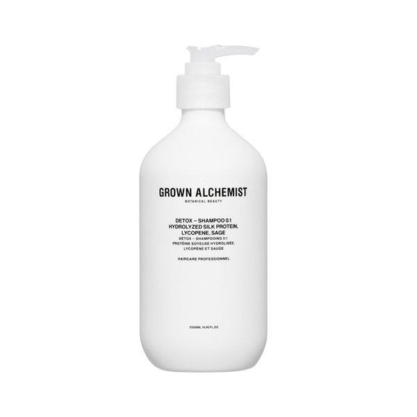 Grown Alchemist Detox - Shampoo 0.1 Hydrolyzed Silk Protein, Lycopene, Sage - 500ml