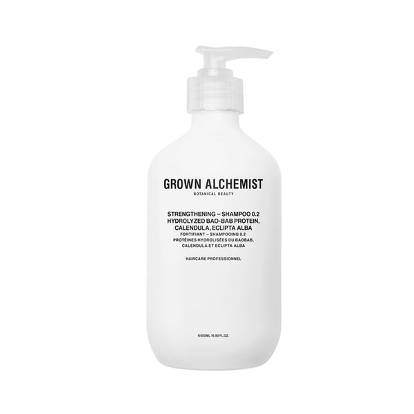 Grown Alchemist Strengthening - Shampoo 0.2 Hydrolyzed BaoBab Protein, Calendula, Eclipta Alba - 500ml