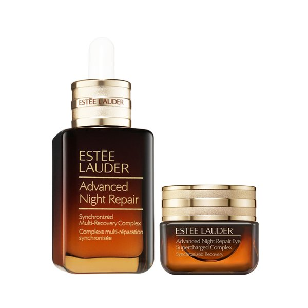 Estee Lauder (New) Advanced Night Repair Synchronized Multi-Recovery Complex Face Serum and Eye Supercharged Complex Set