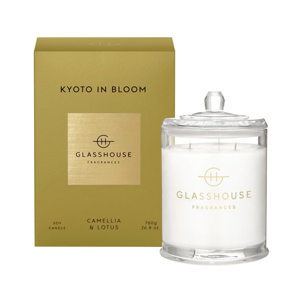 Glasshouse Fragrances Kyoto in Bloom Soy Candle - 760g