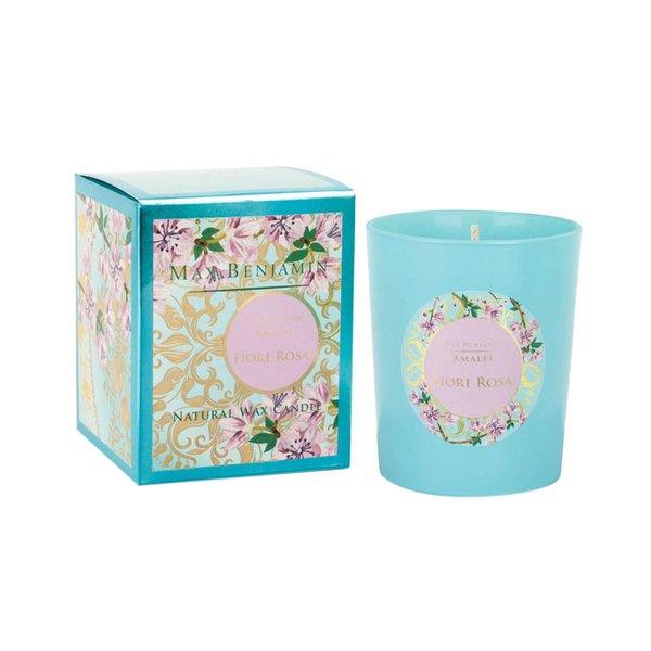 Max Benjamin Amalfi Scented Glass Candle - Fiori Rosa 190g