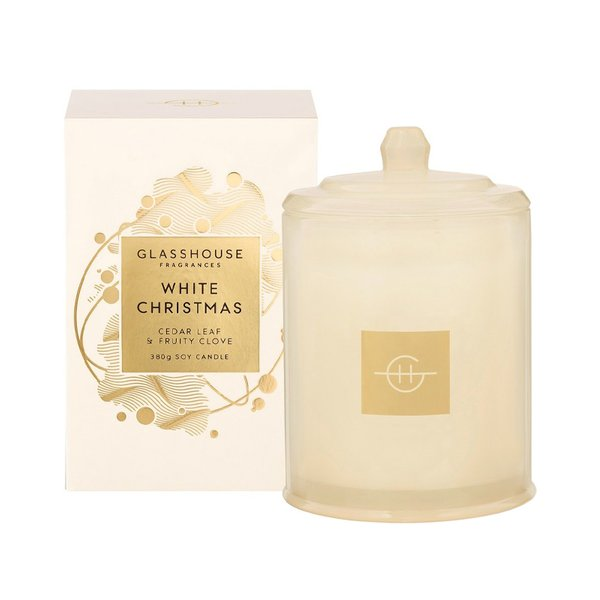 Glasshouse Fragrances White Christmas Soy Candle - 380g (Limited Edition)