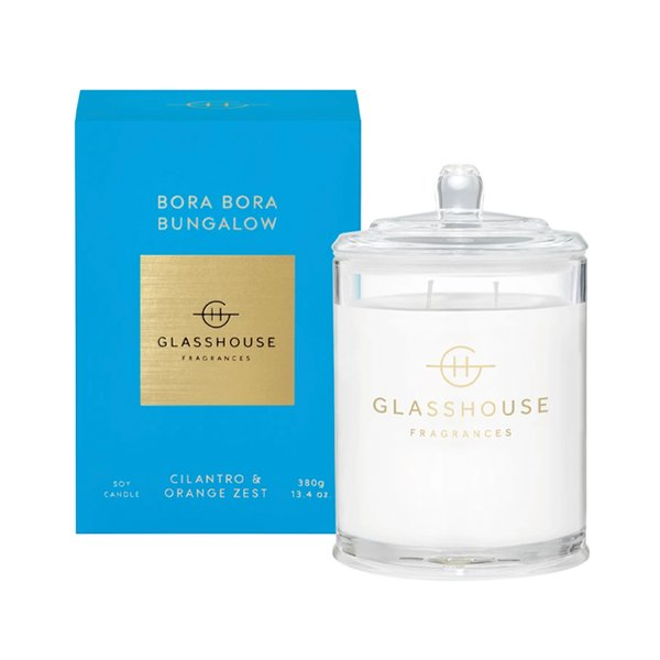 Glasshouse Fragrances Bora Bora Bungalow Soy Candle - 380g