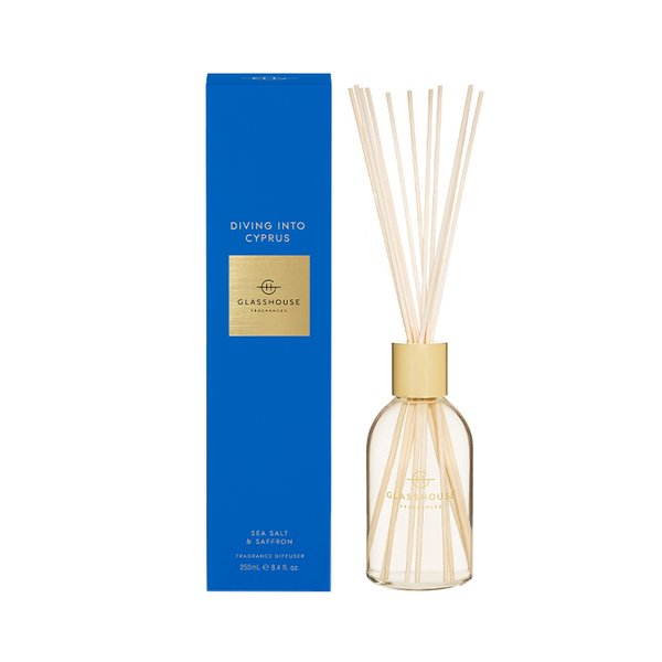 Glasshouse Fragrances Diving into Cyprus Diffuser - 250ml