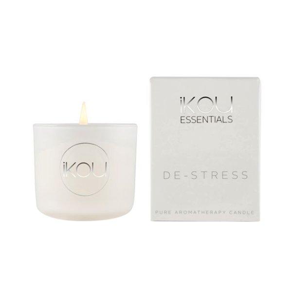 iKou Essentials Small Glass Candle - De-Stress, 85g