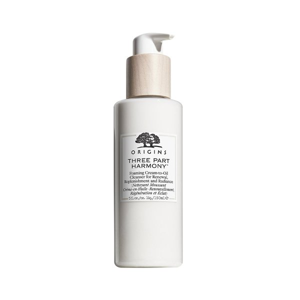 Origins Three Part Harmony Foaming Cream-To-Oil Cleanser for Renewal, Replenishment And Radiance - 150ml